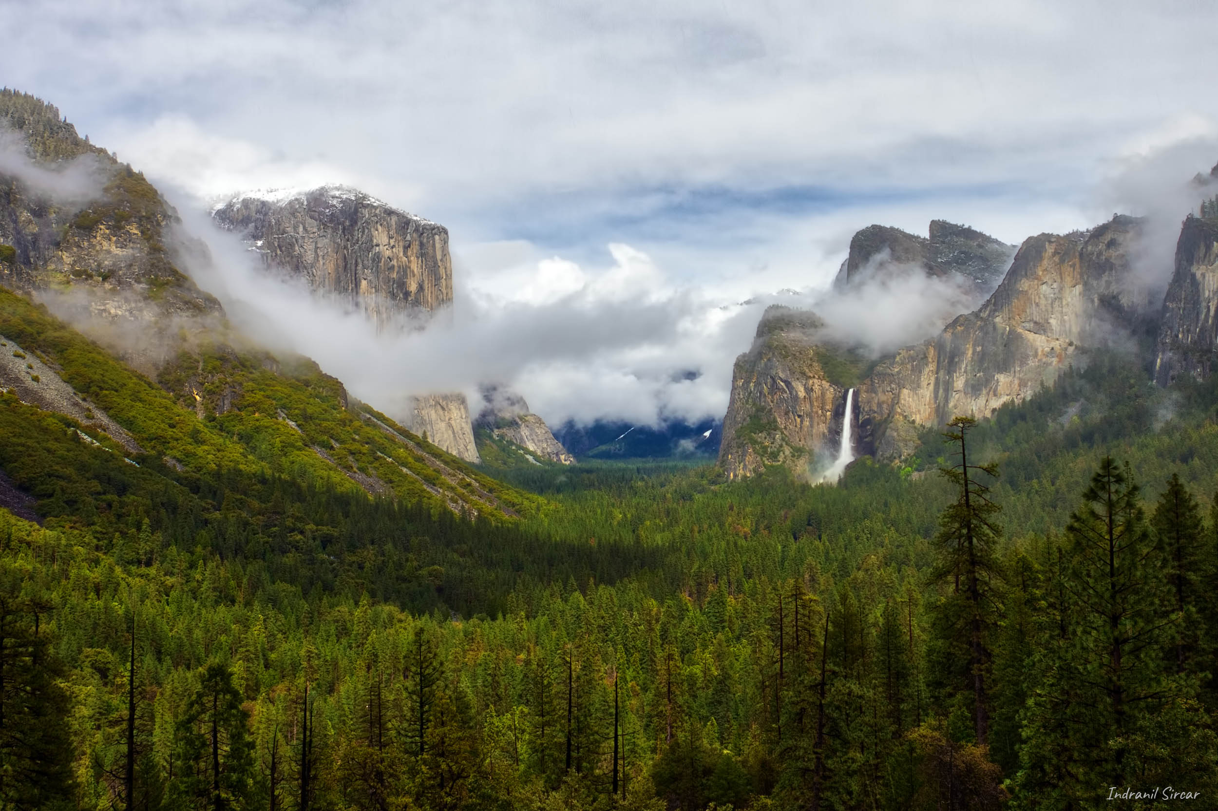 Valley View after a late spring storm, Yosemite National Park, CA