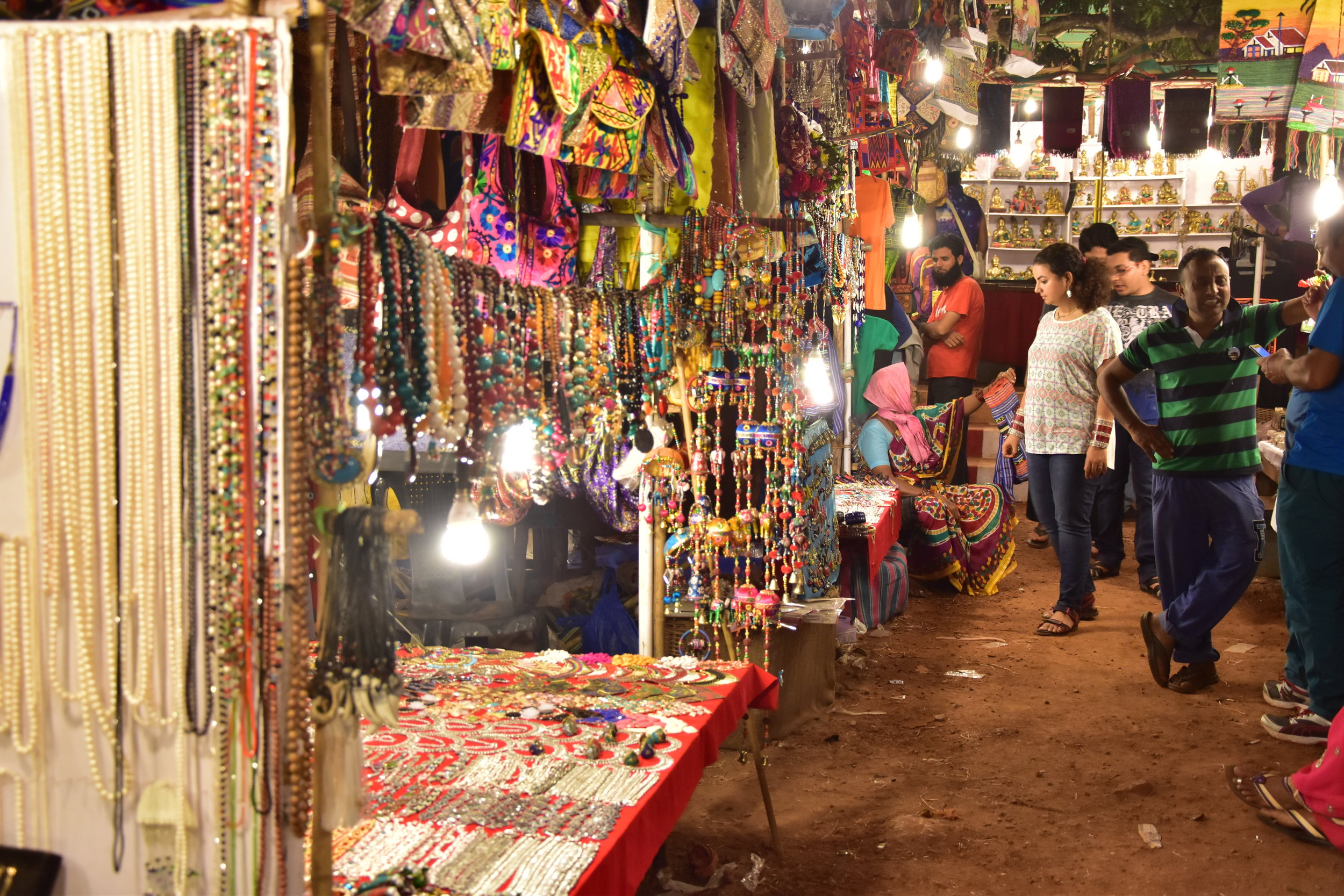 Anjuna Night Market in Goa, India