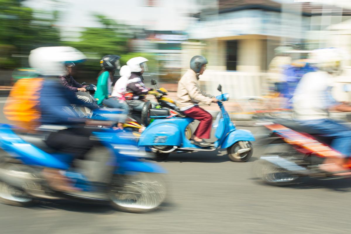 Street scene, Bandung, Indonesie