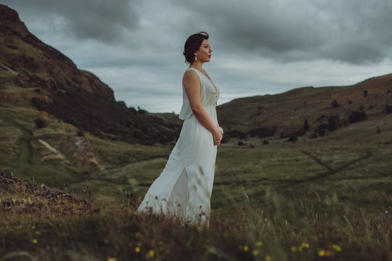 Hui Ying & Lionel's Edinburgh engagement shoot around the Royal Mile & Holyrood Park