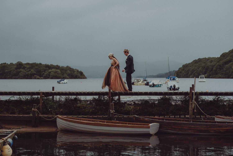 David & Victoria's wedding on Inchcailloch island, Loch Lomond and at One Devonshire Gardens in Glasgow, Scotland in autumn 2015