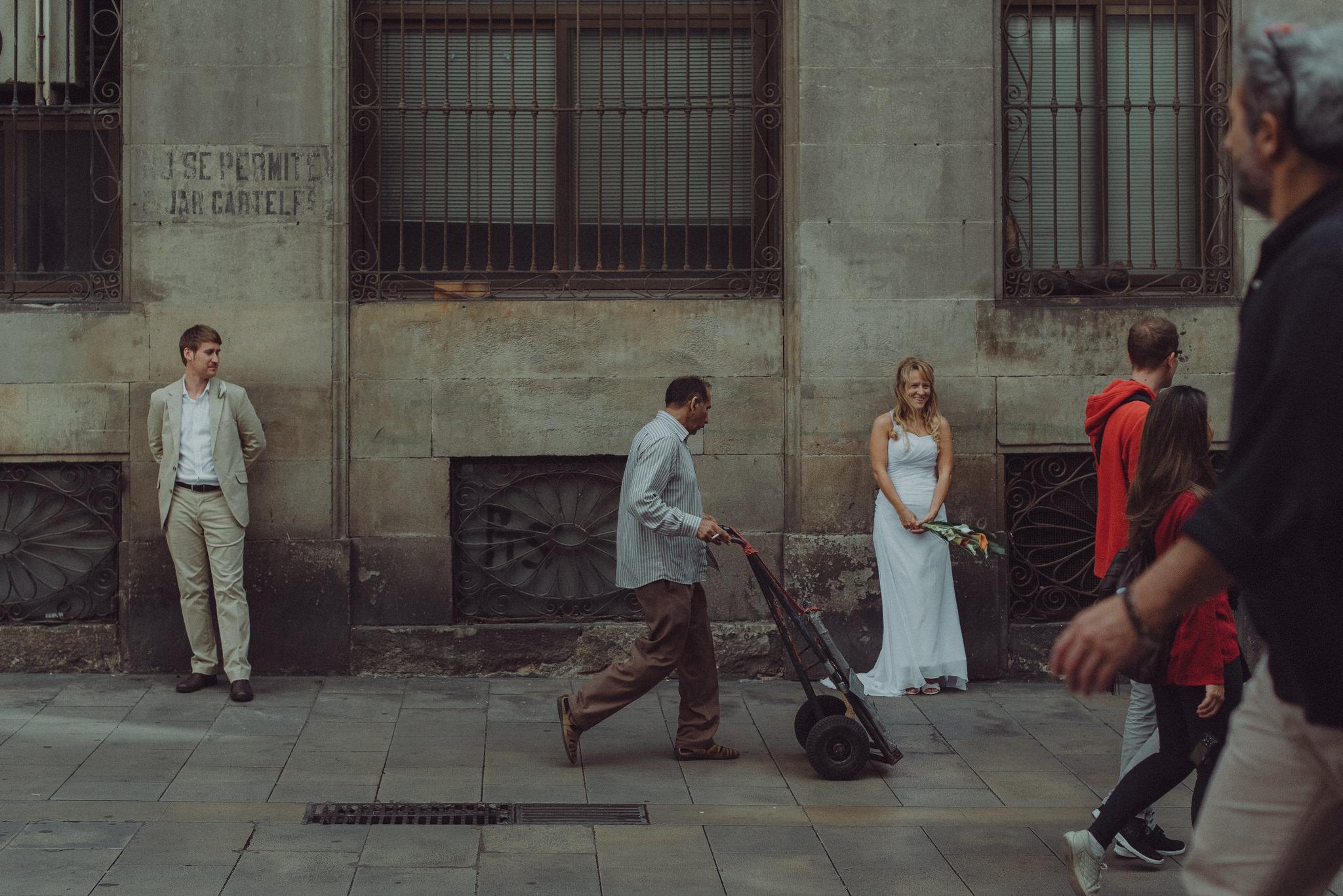 Carles & Mirka's beach wedding in Ocata, Barcelona - 9th October 2015.