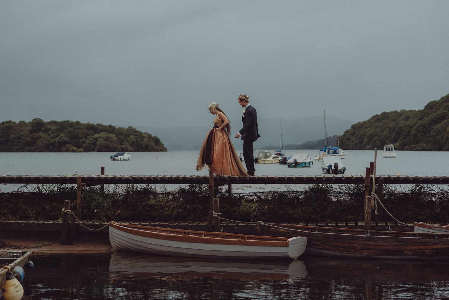 David & Victoria's wedding on Inchcailloch island, Loch Lomond a