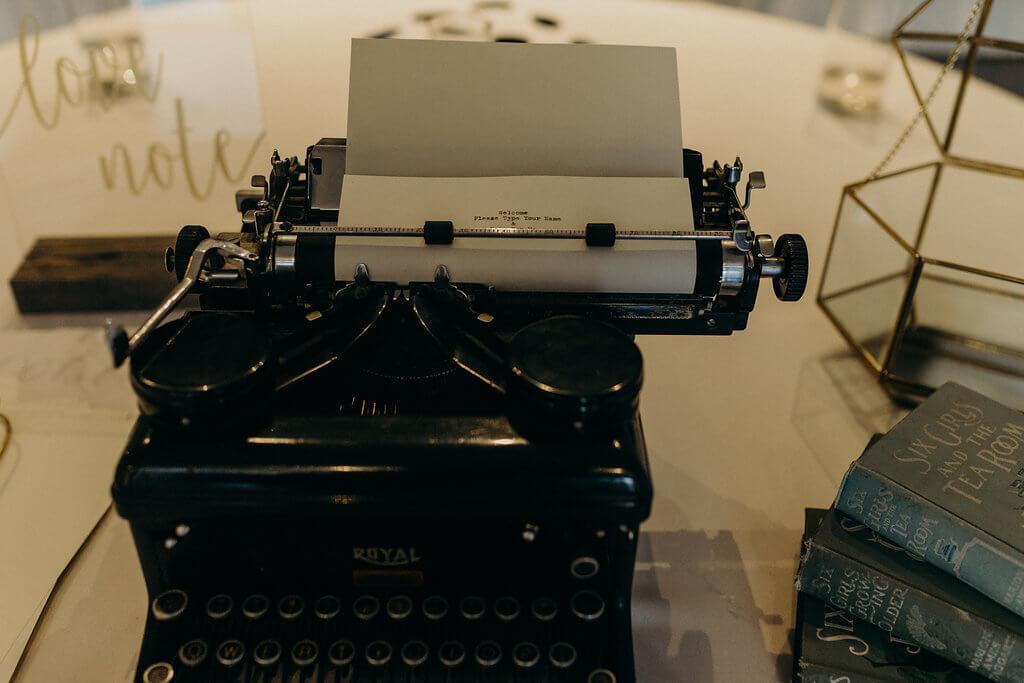 Provenance Vintage Rentals Los Angeles Orange County Beth and Ian Wayfarers Venue by Three Petals Blog 46 Vintage Typewriter Rental.jpg