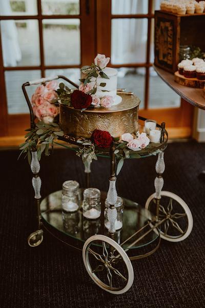 Provenance Vintage Rentals Los Angeles Vintage Bar Cart Rental Cake Table Calamigos Ranch Malibu Wedding.png