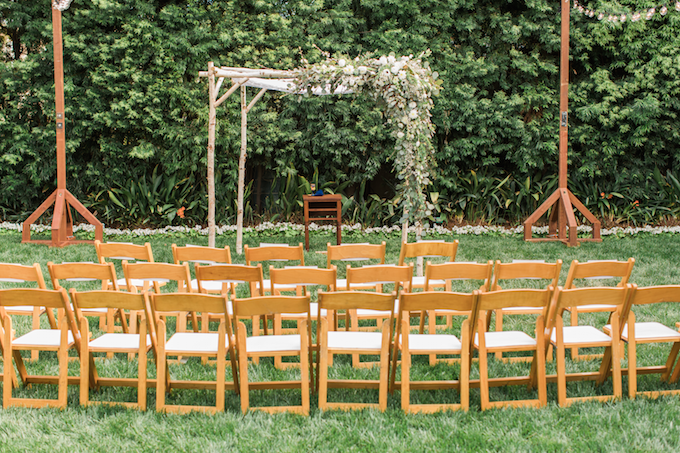 Abigail Birch Chuppah Arbor  at private residence in Beverly Hills | Photo by Two Moon Photography