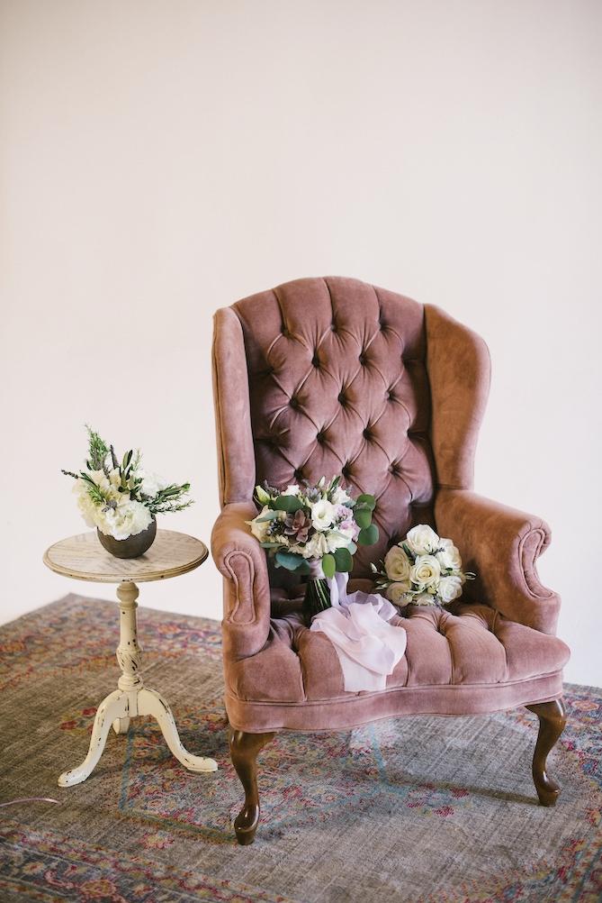 Robin Velvet Tufted Armchair