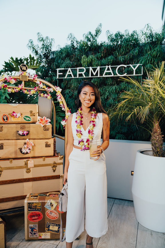 Vintage trunks & luggage by Provenance Rentals | Be Social PR & Farmacy Product Launch at the Waldorf Astoria Beverly Hills || Photo by Jessica Prowitz