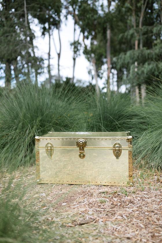 Josephine Gold Trunk