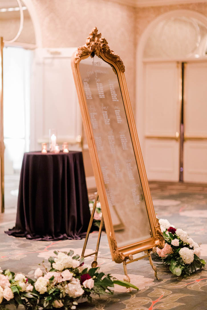 Bijou Ornate Gold Floor Mirror