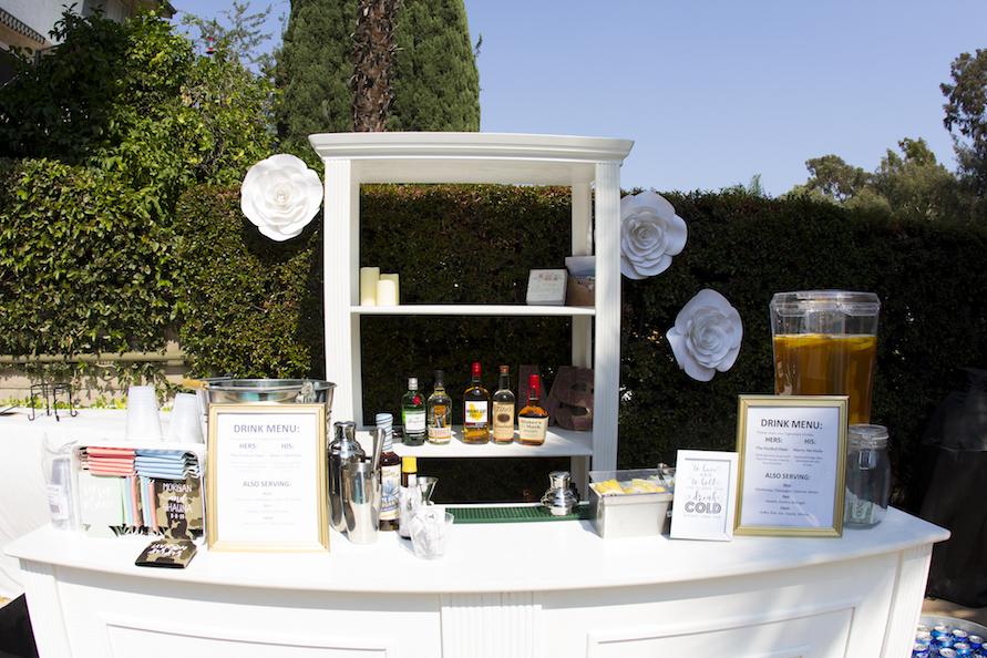 Elizabeth Romantic White Bar Shelving Unit
