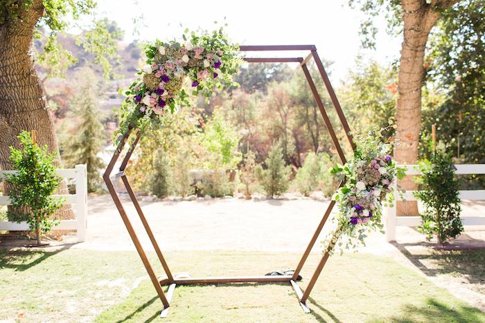 Rustic Hexagon Arch