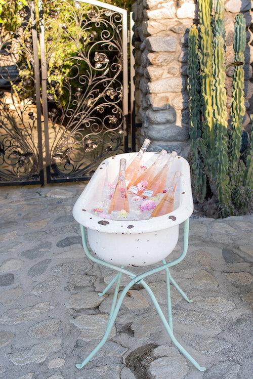 Luca Vintage Enamel Baby Bath Tub