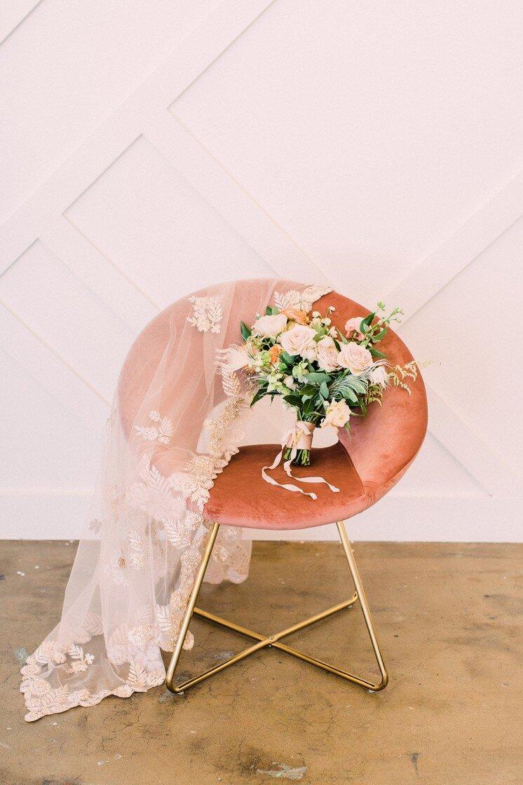 Esperanza Pink Velvet Accent Chair — Provenance Rentals — Los