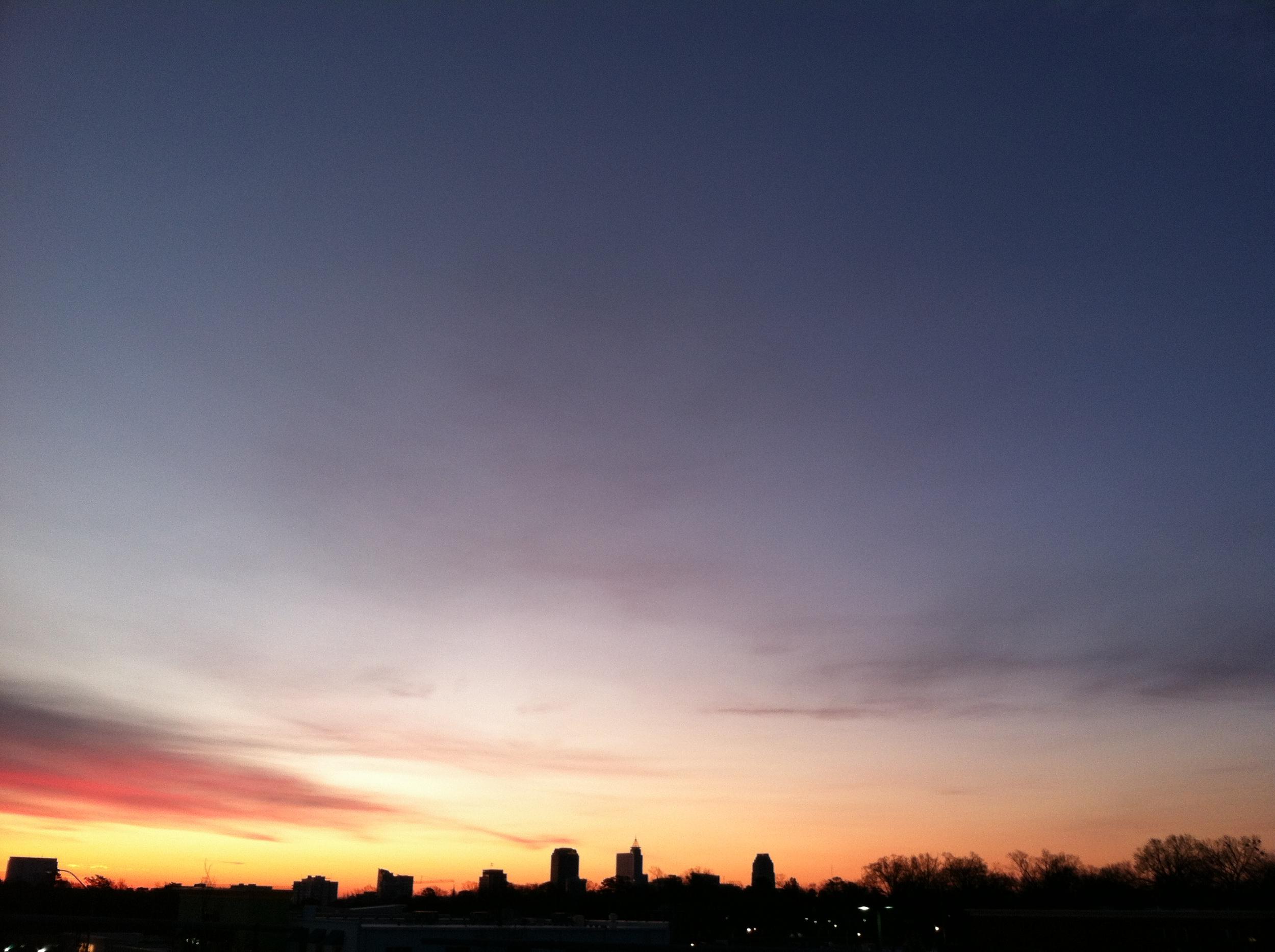 raleigh-nc-sunset