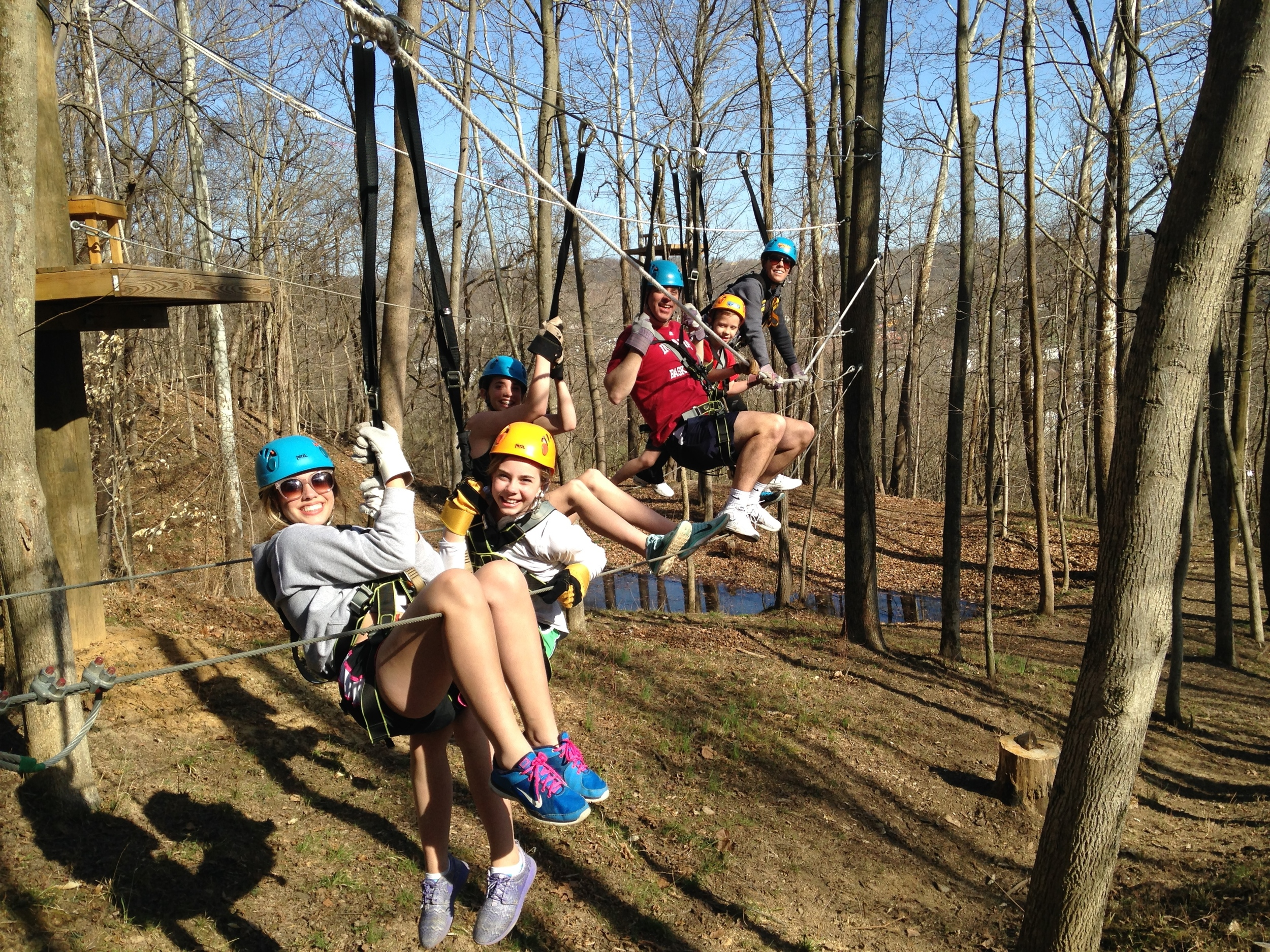 Group Zip lining in Indiana