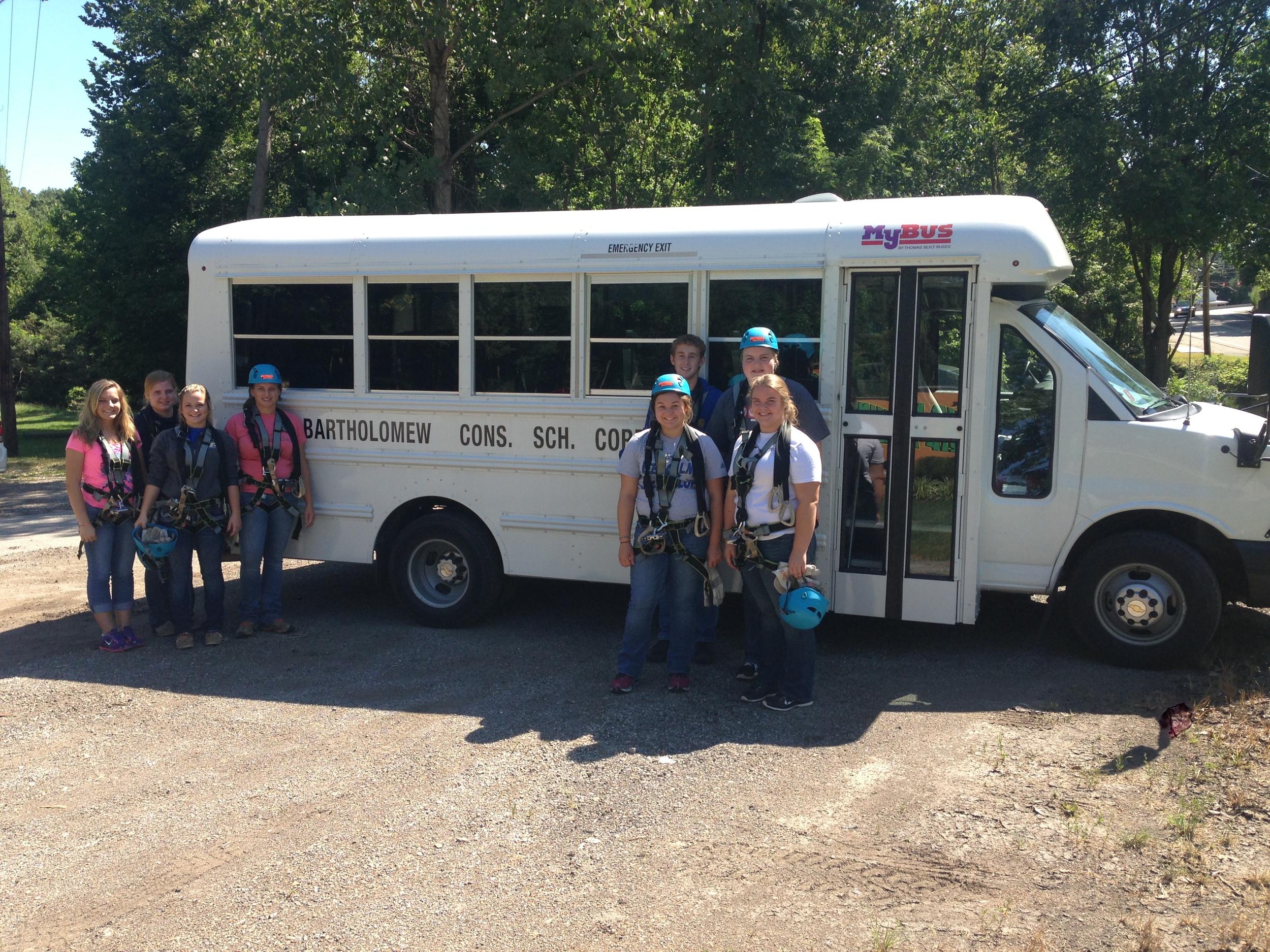 School Group Zip Line Field Trip