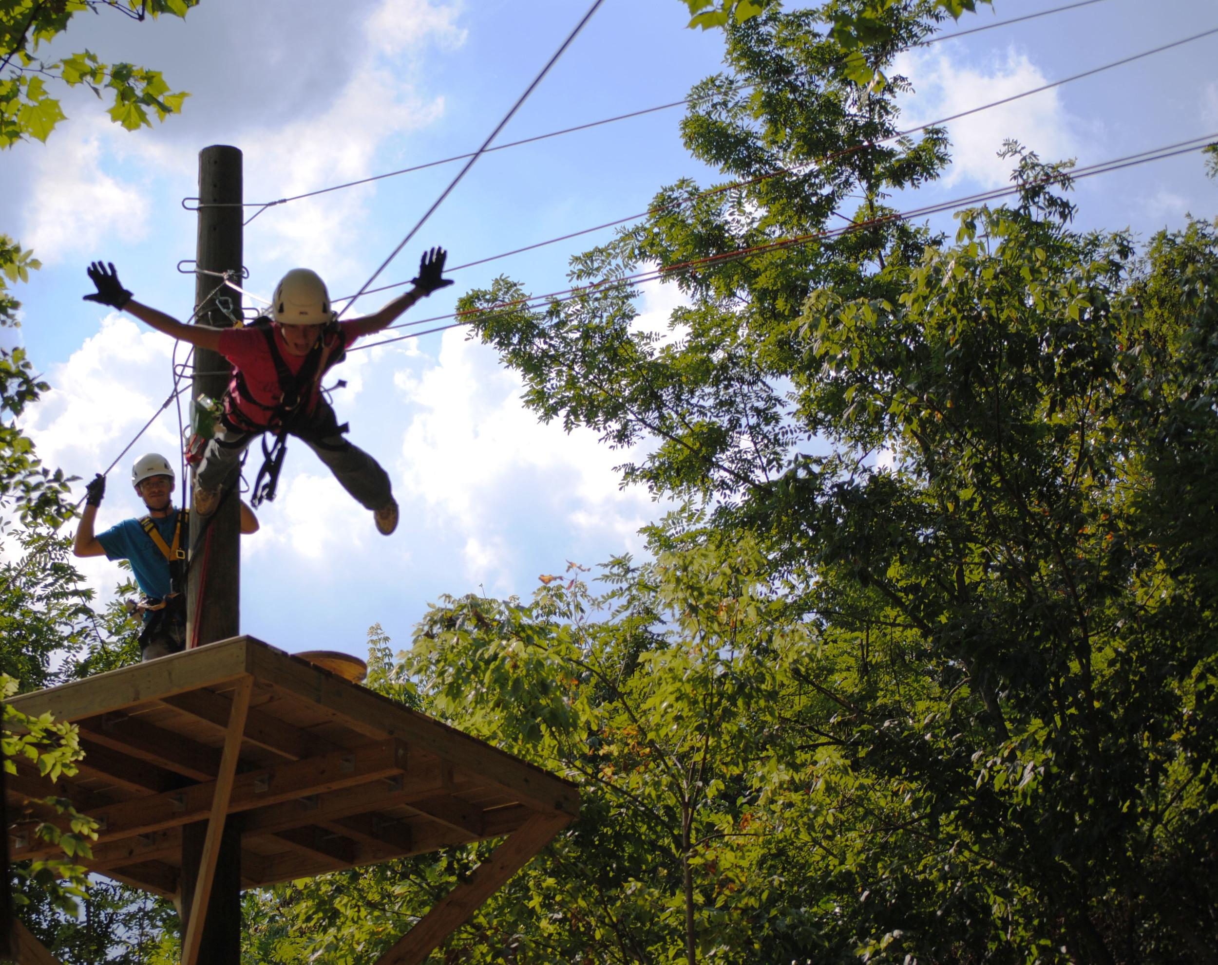 Defy Gravity Zip Line Leap of Faith
