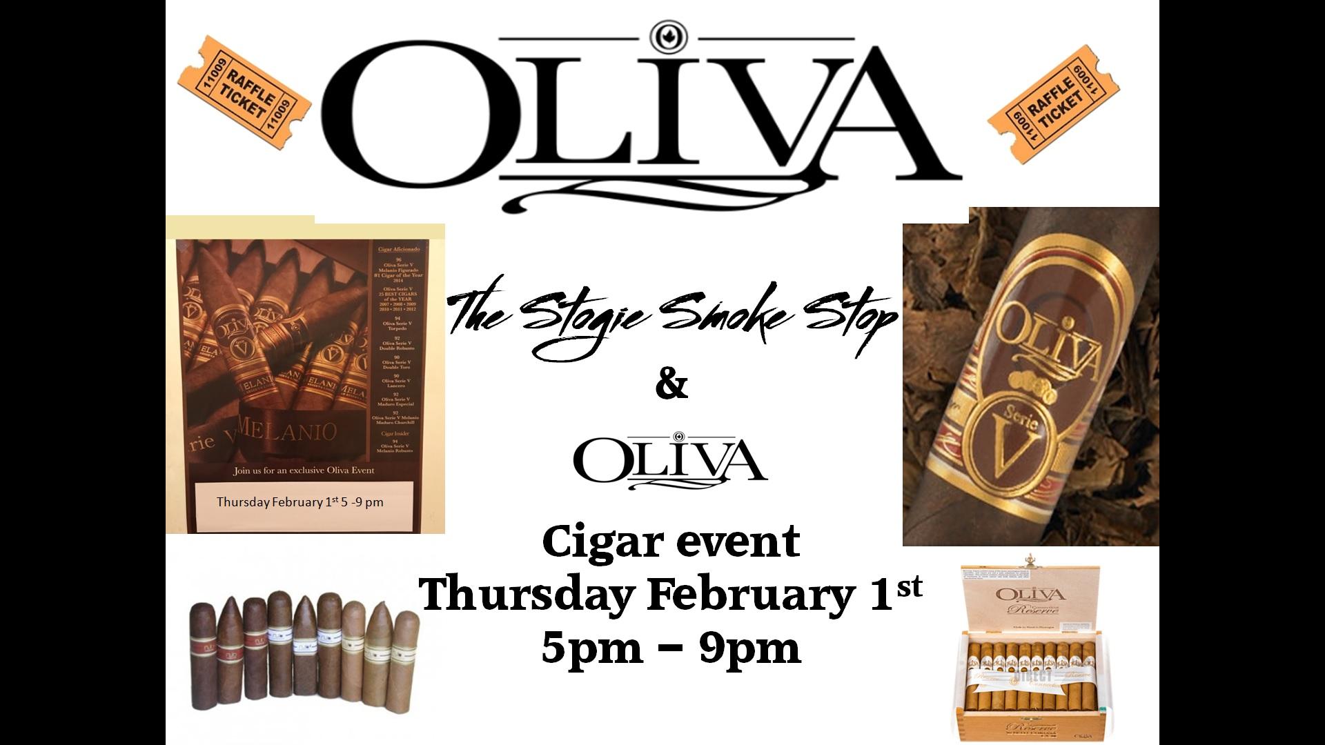 Oliva Cigar Event February 1st 5 - 9 pm