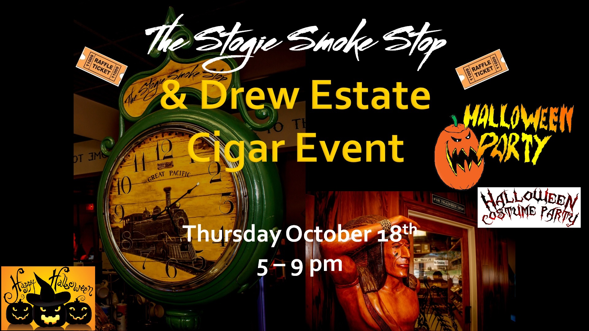 Drew Estate Halloween Costume Party Cigar Event