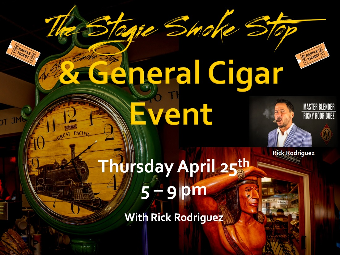 General Cigar Event W/ Ricky Rodriguez, & Pa's Pork food truck
