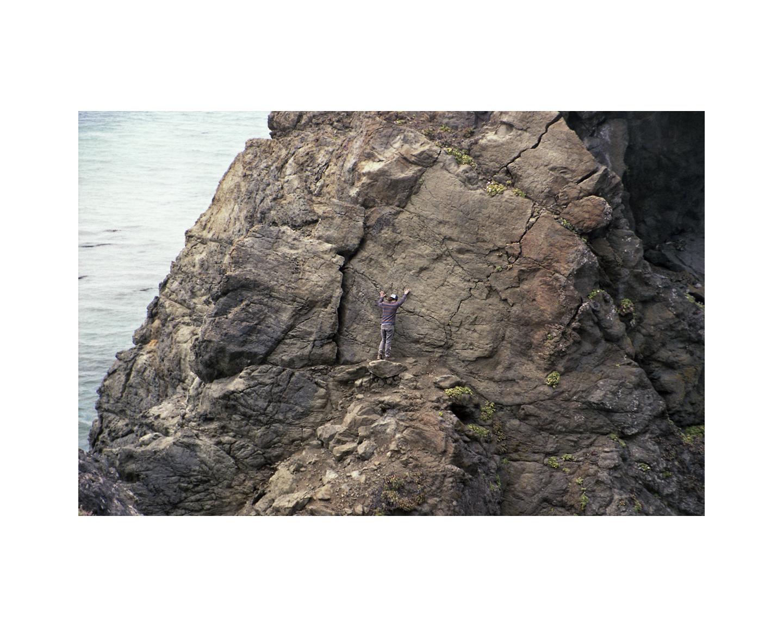 Attempting to Climb - Big Sur