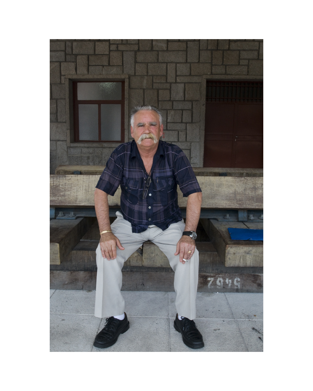 Man at the Irun Train Station