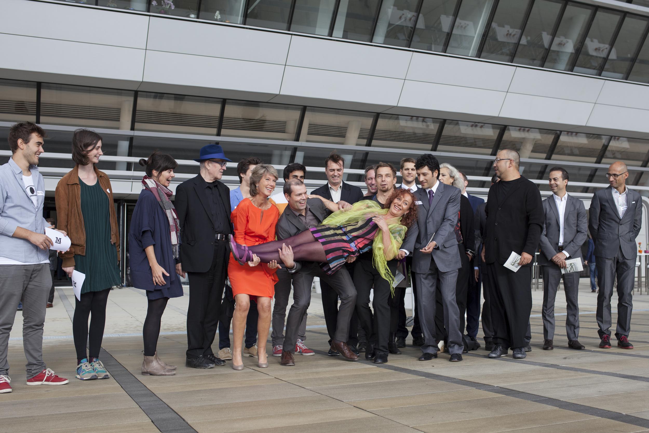 Laura P. Spinadel and team at WU Campus, Vienna, photo: © BOAnet.at