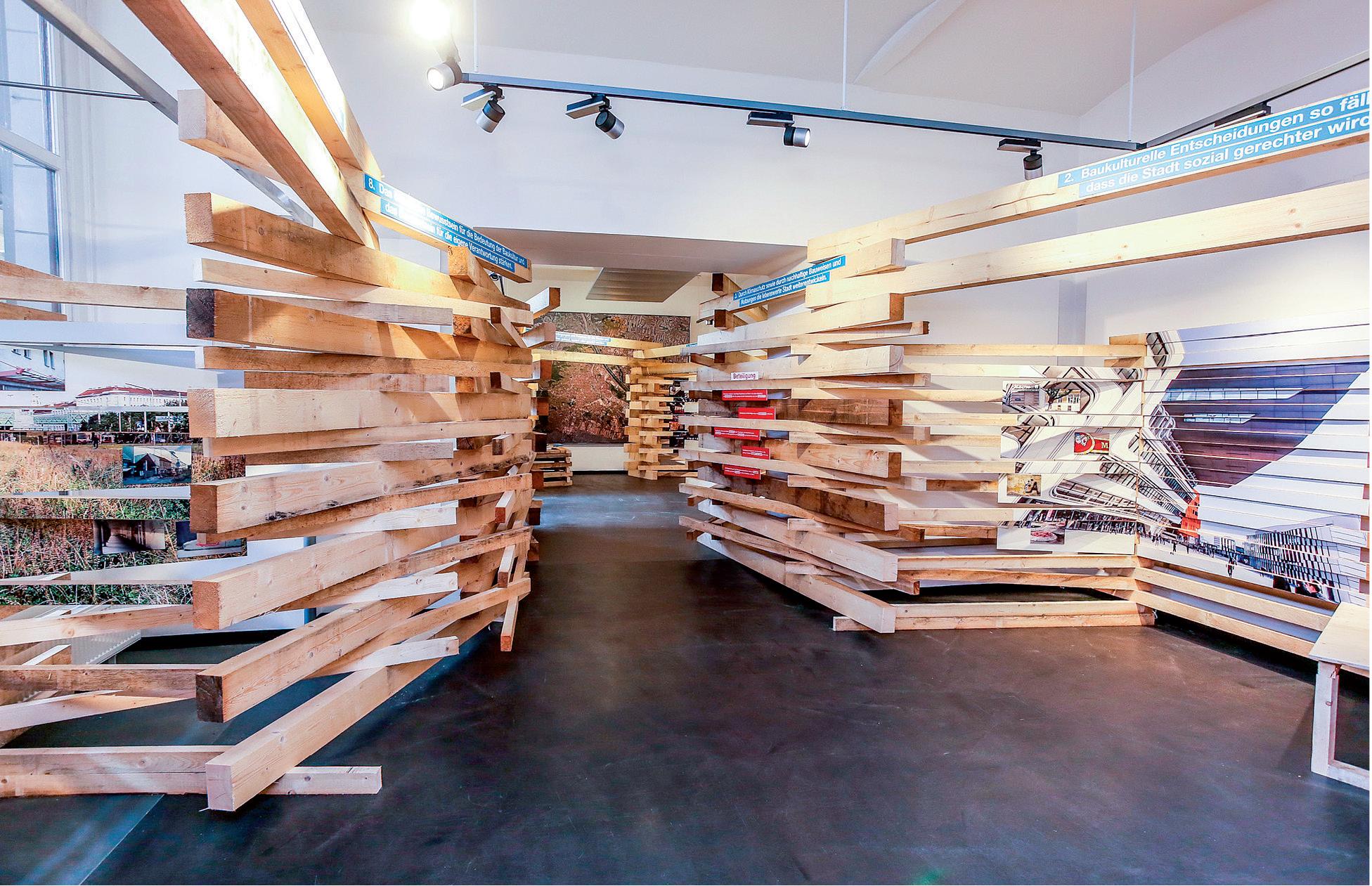 miss_vdr architektur + heri&salli + zunder zwo: architectural concept of the exhibition  Baukultur – Denk Deine Stadt anders, Vienna, photo: © c.fuerthner / MA 19