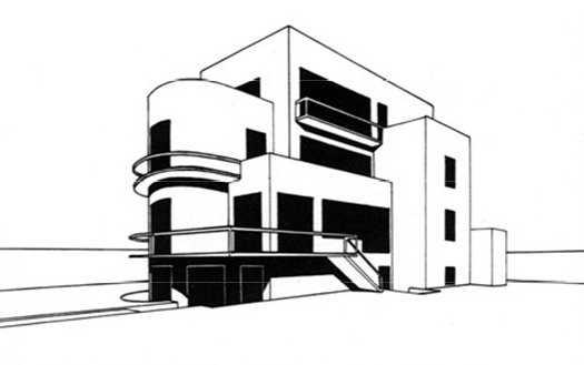 Villino project G. Bottai. Lido di Ostia by Elena Luzzatto Valentini, 1928