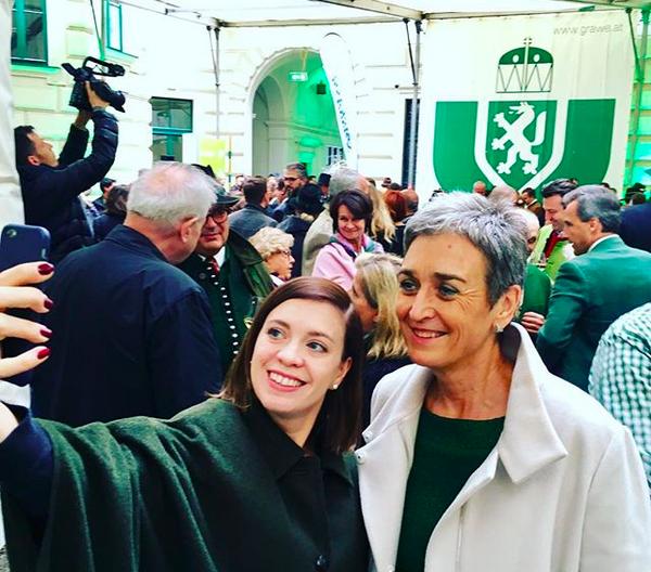 Lara with Ulrike Lunacek, an Austrian politician and former  Member of the European Parliament  (MEP) from  Austria . photo: Lara   Köck