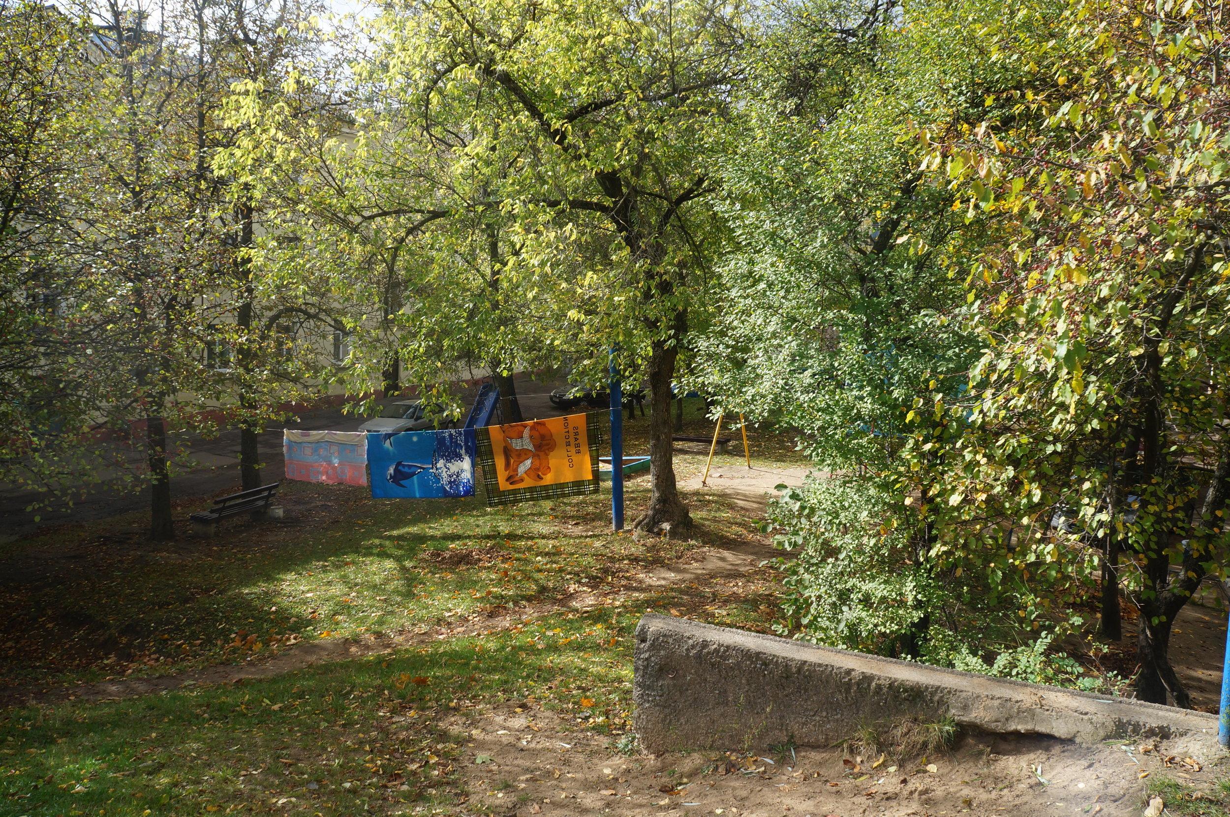 Old custom to hang the laundry in the courtyard, photo: Ndzeya_TsaranokJPG