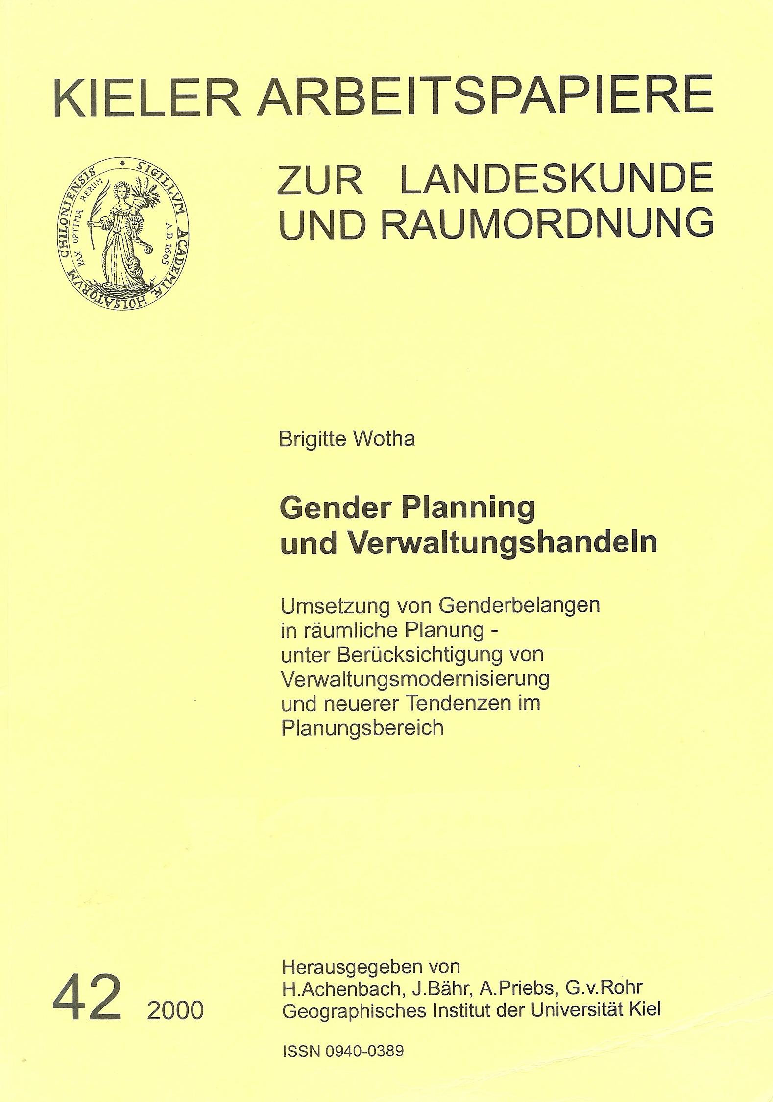 Gender Mainstreaming in adminstration  handbook by Brigitte Wotha
