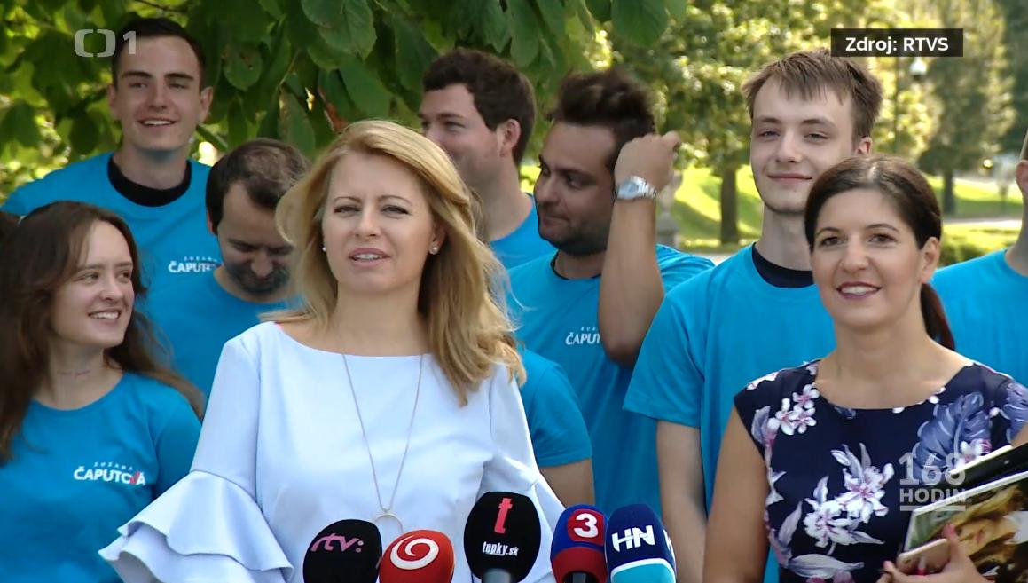 Natália Heribanová v dobrovoľníckom teame prezidentky Slovenskej republiky Zuzany Čaputovej, foto: RTVS