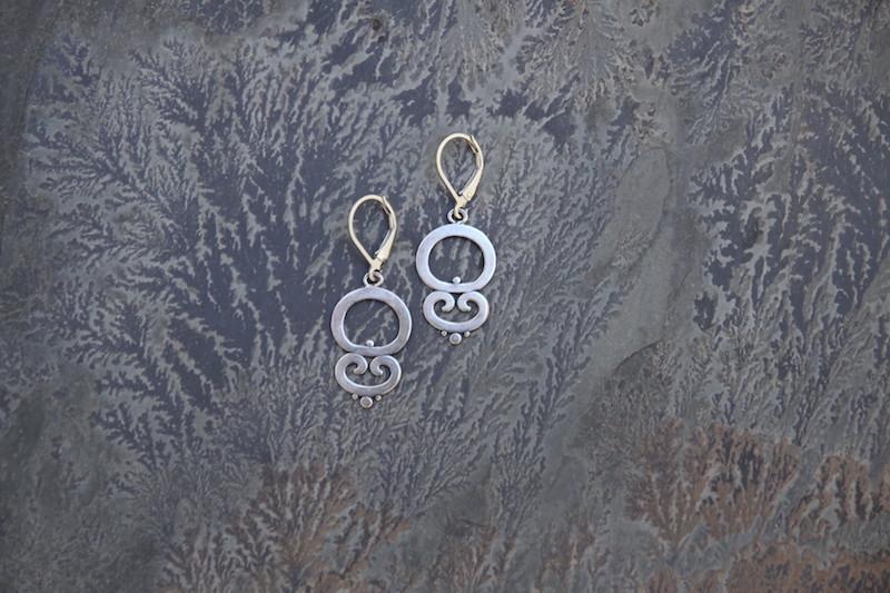 Ornate Dangle Earrings  ORN111-D-SS $30 ORN111-D-GP $40