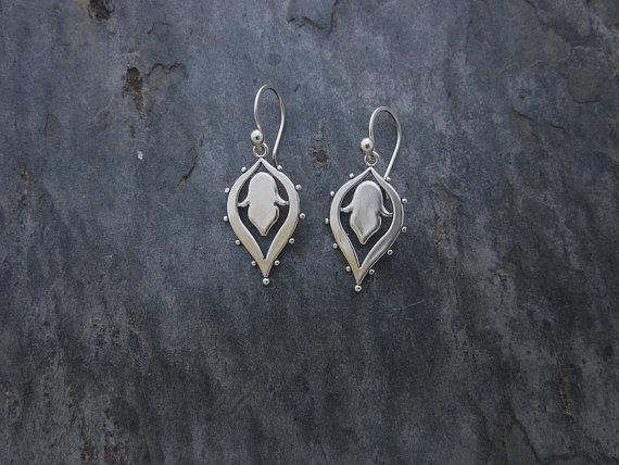 Lotus Dangle Earrings  LOT100-D-SS $30 LOT100-D-GP $40