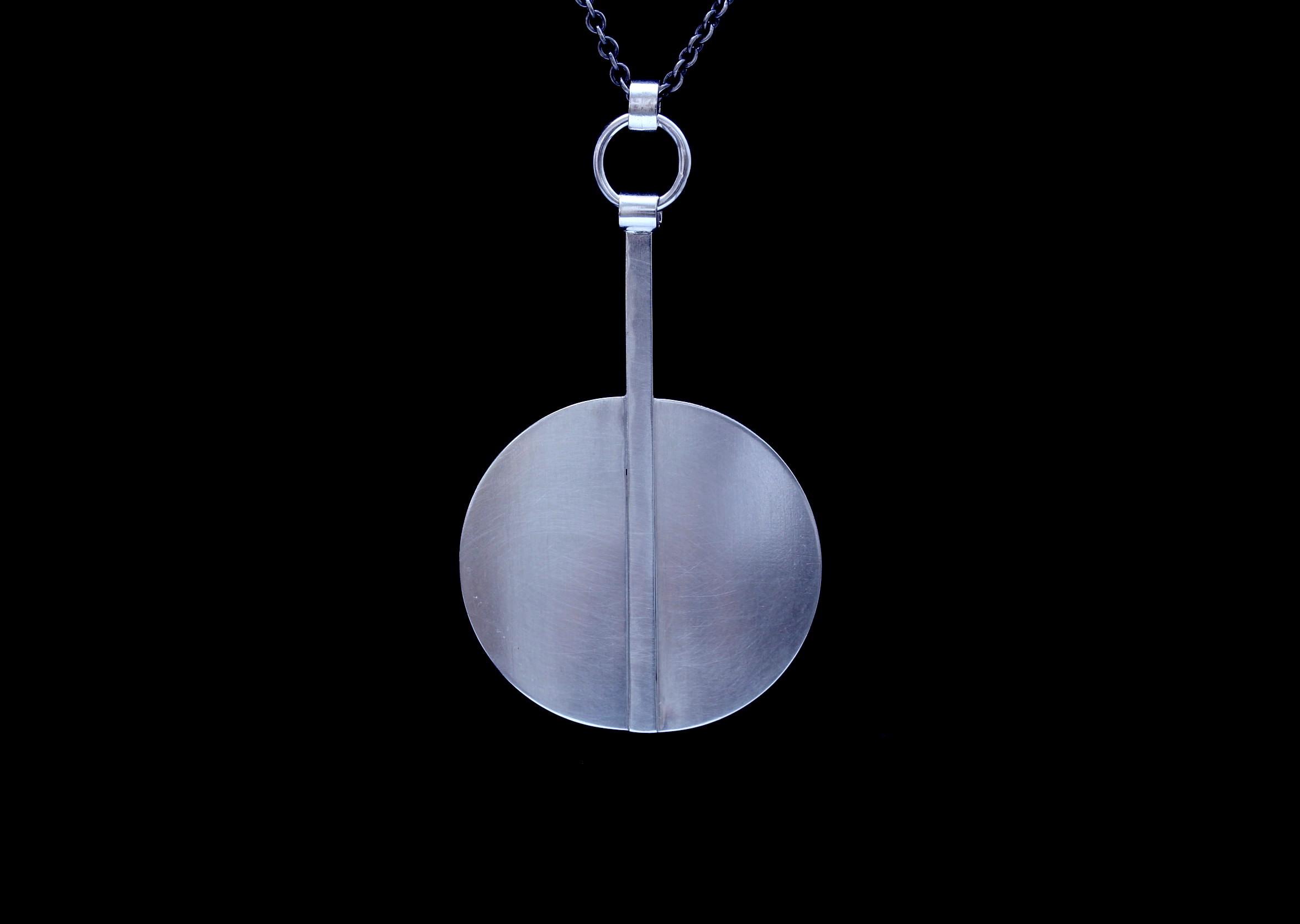Modern Full Moon Pendant MED $75 MFM400-P-SS