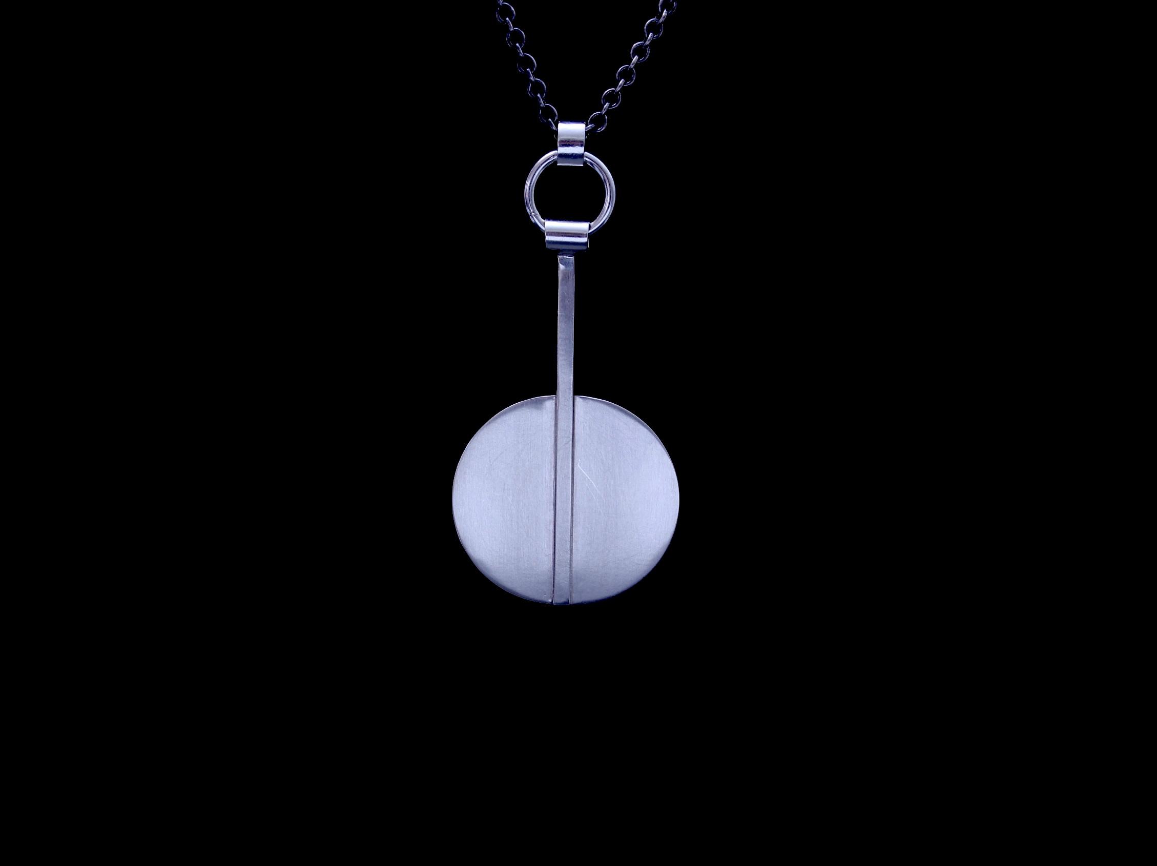 Modern Full Moon Pendant SM $65 MFM401-P-SS