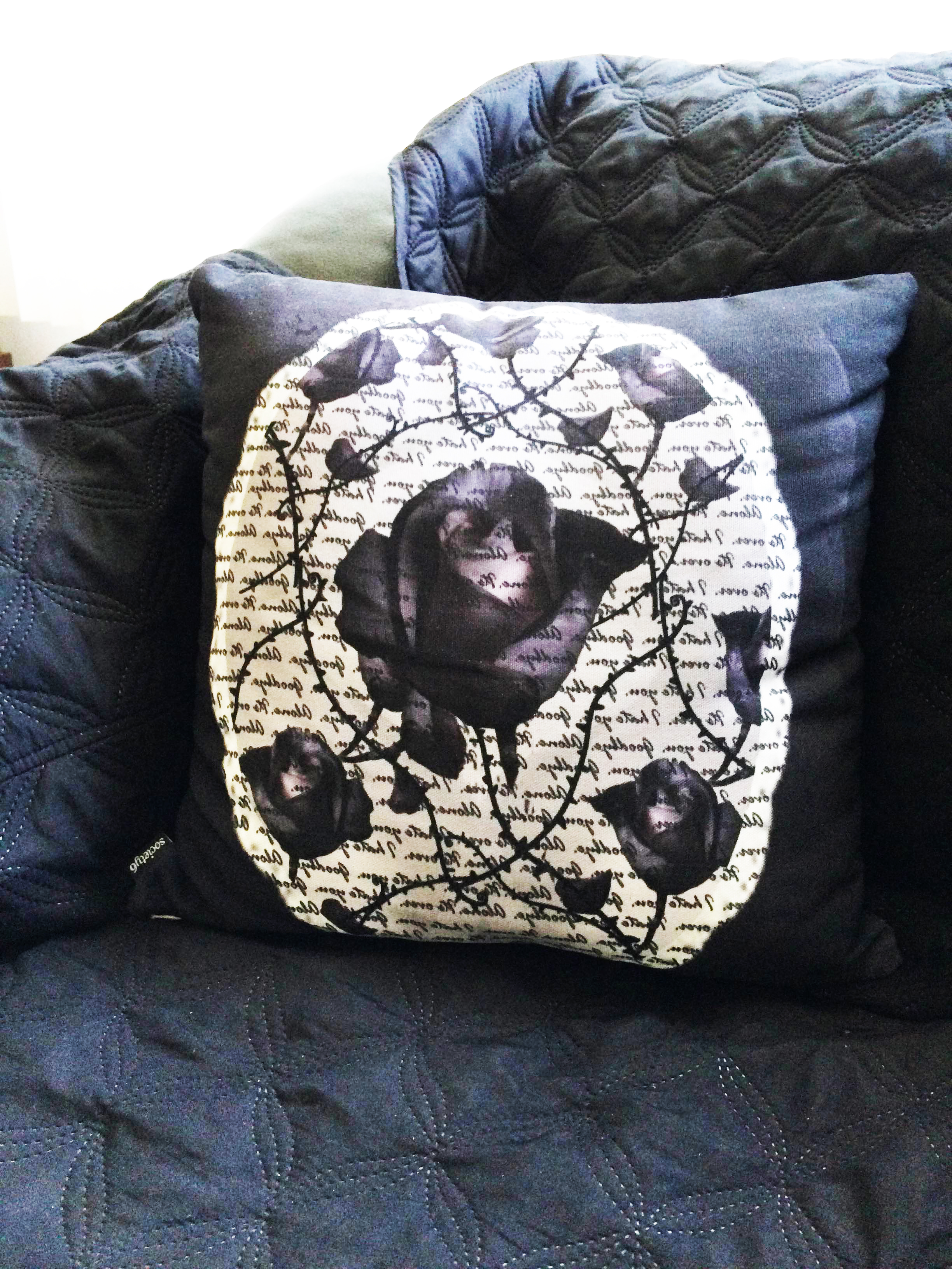 bitter rose pillow