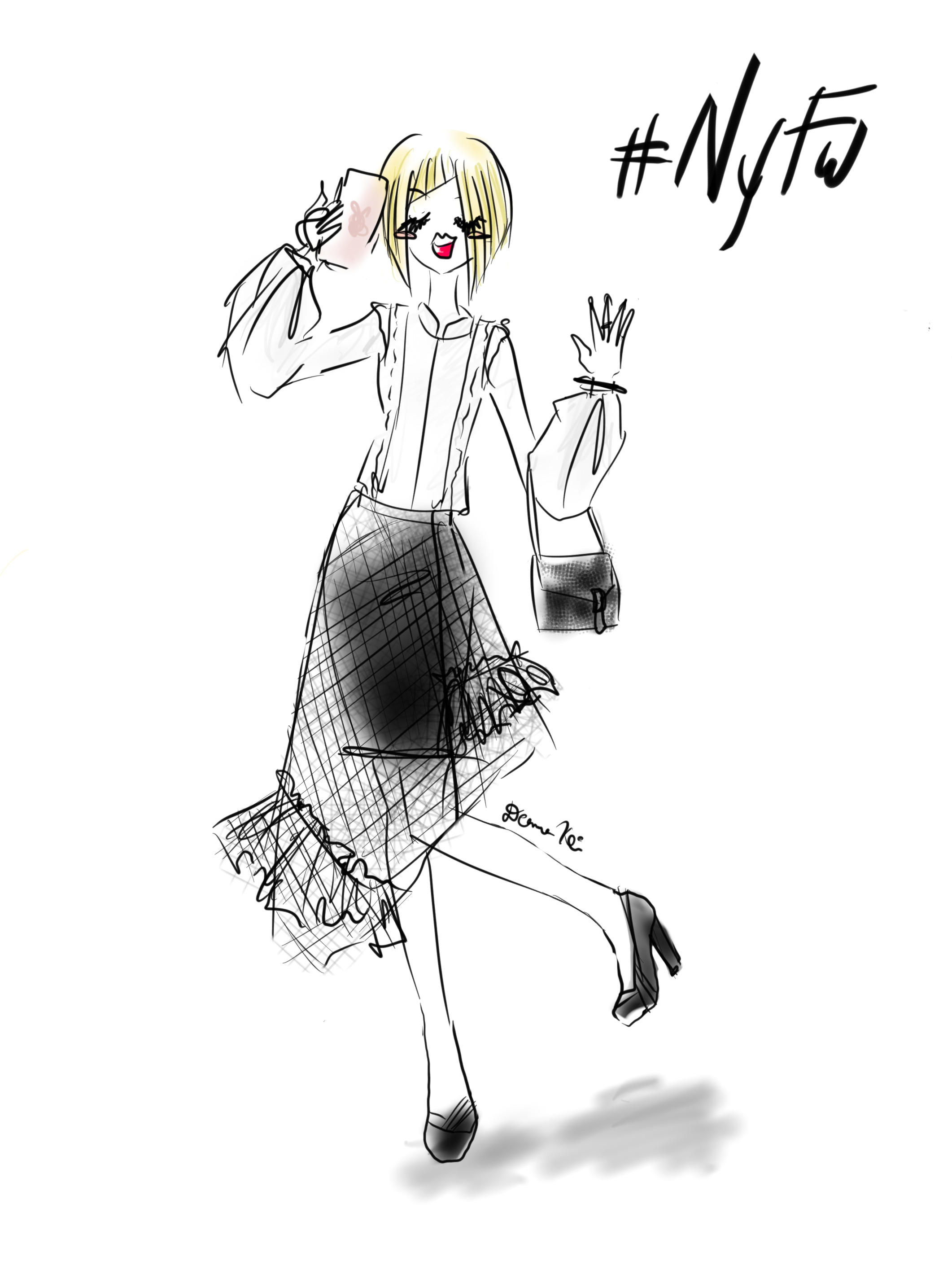 Fashion Blogger Sketch - by Deanna Kei