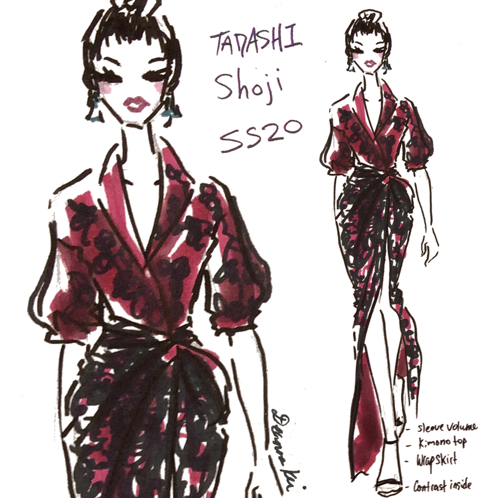 A zoomed view on my favorite Tadashi Shoji Look