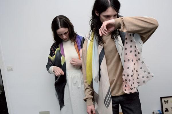 Milleneufcentquatrevigtquatre's Scarves Inspired by TVs and Trash Bags