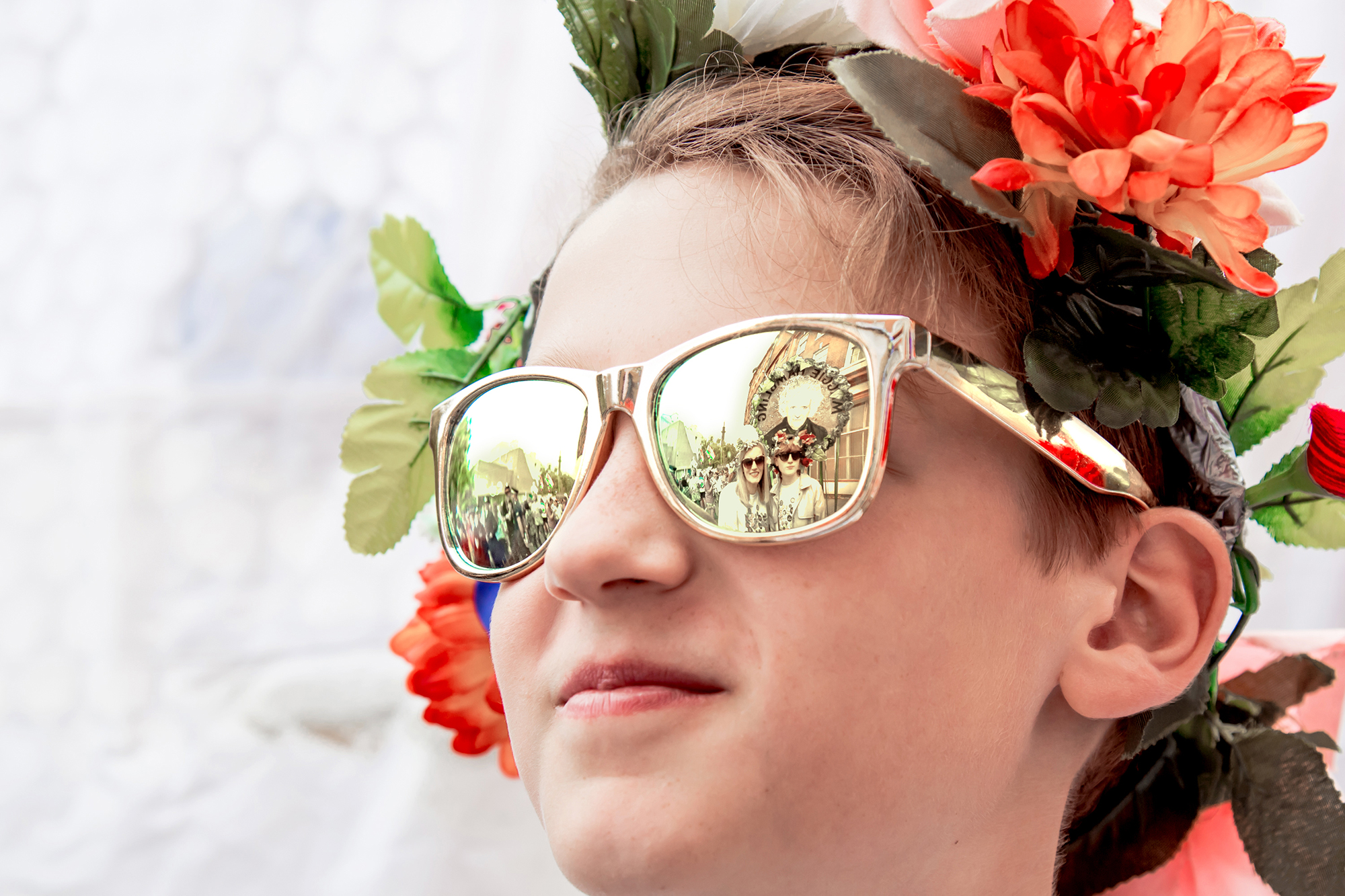 Young person with glasses