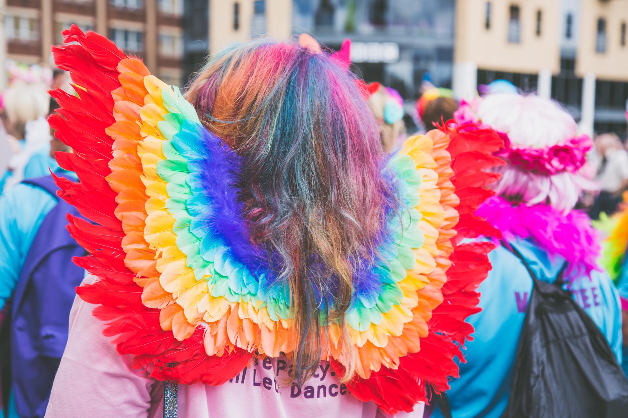 Angel rainbow wings