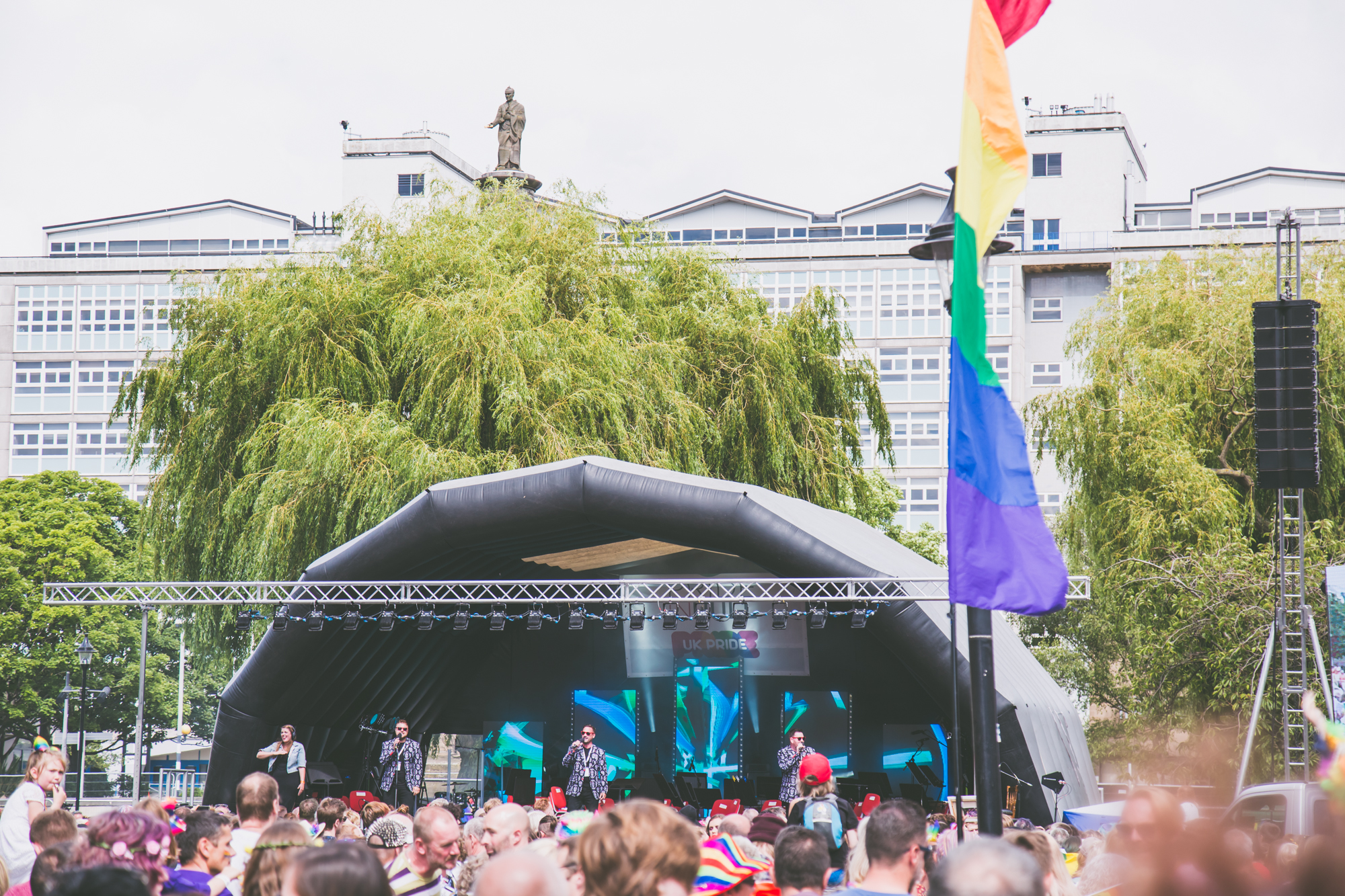 Pride stage and crowd