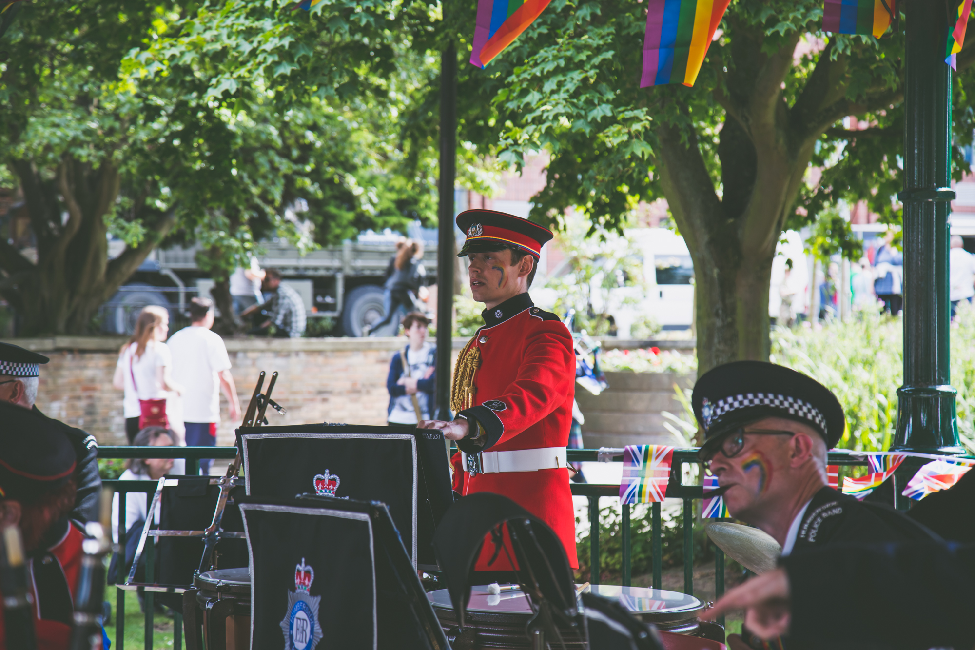 Band stand conductor