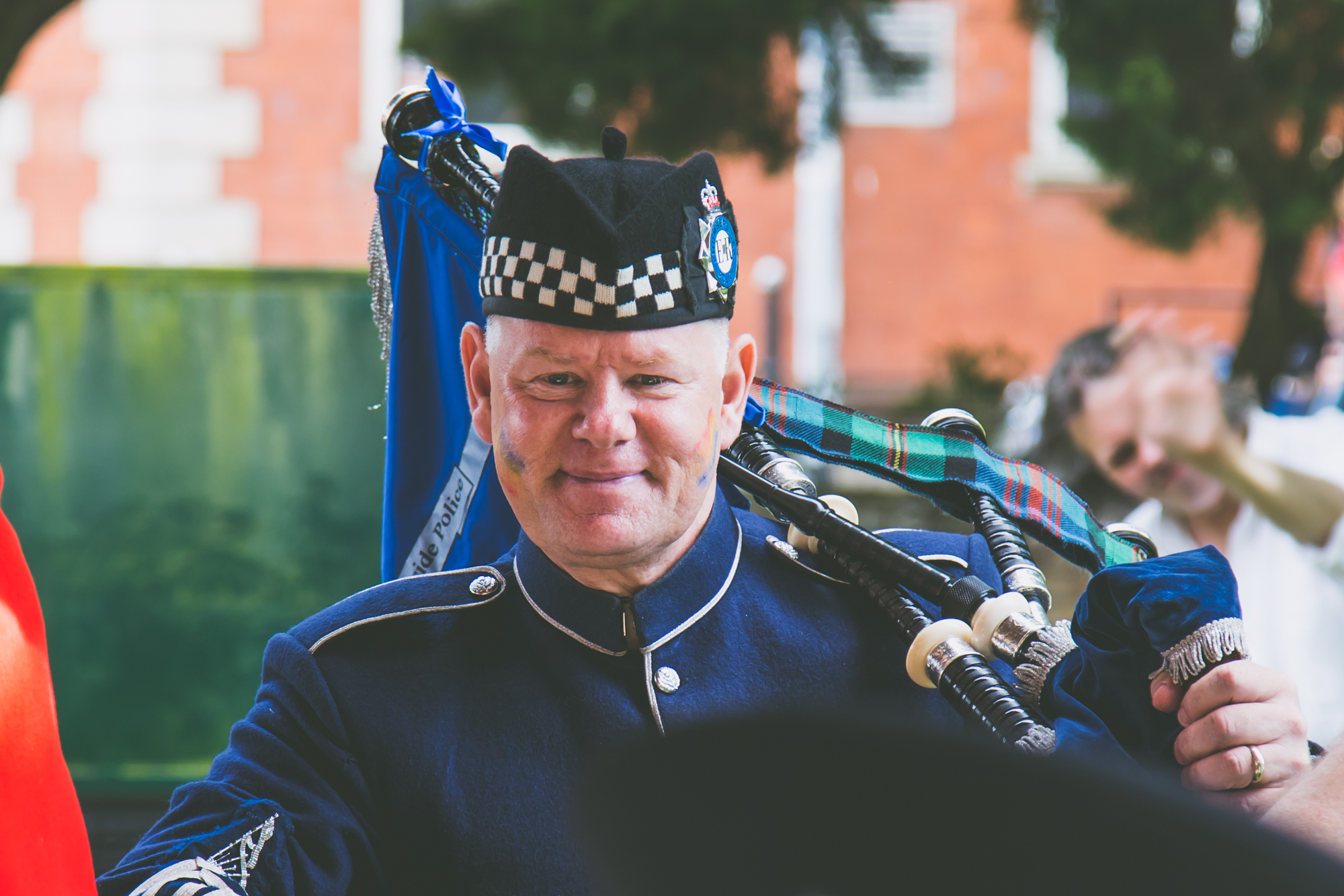 Bagpipe player portrait