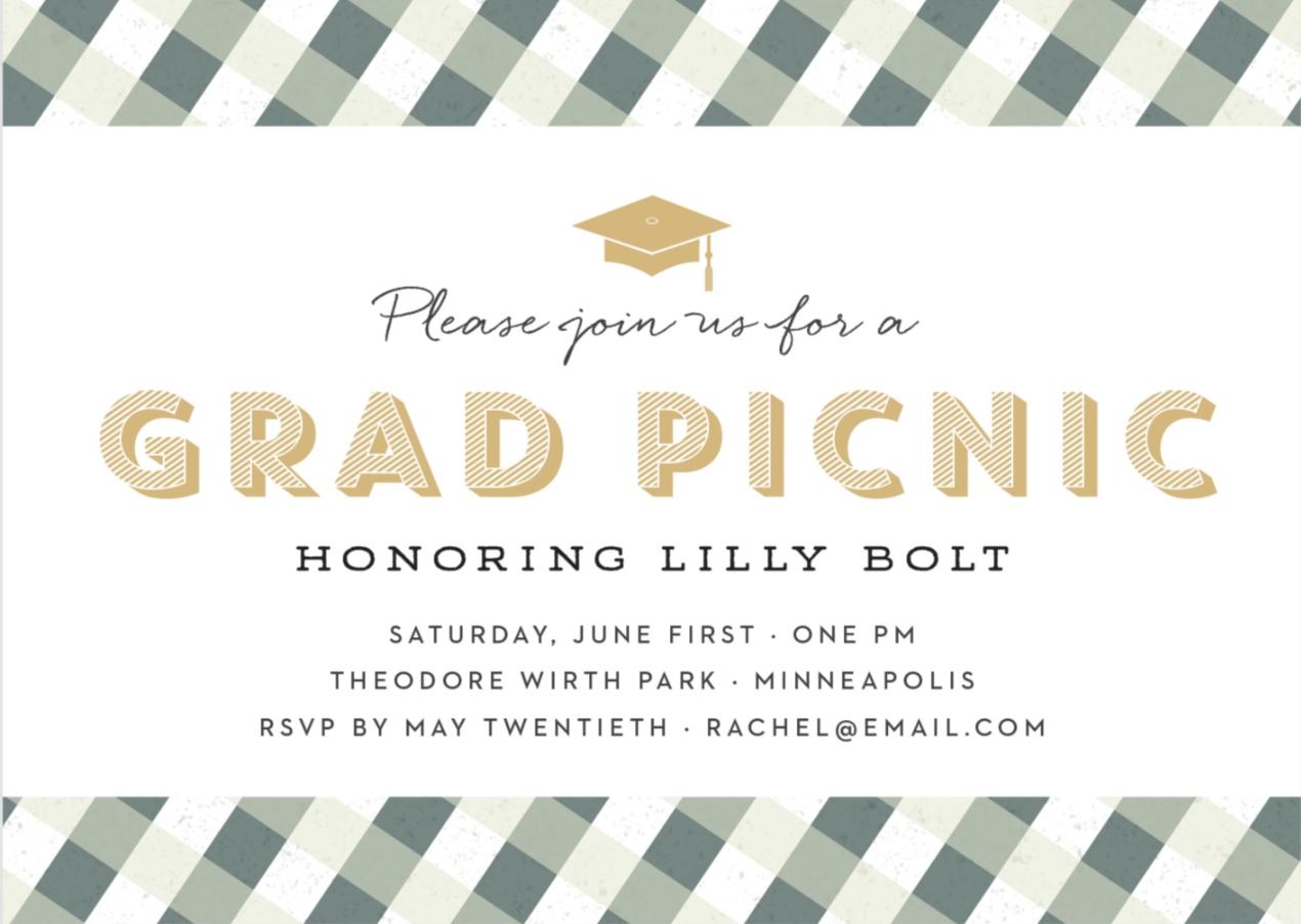 Basic Invite Graduation Picnic Invite