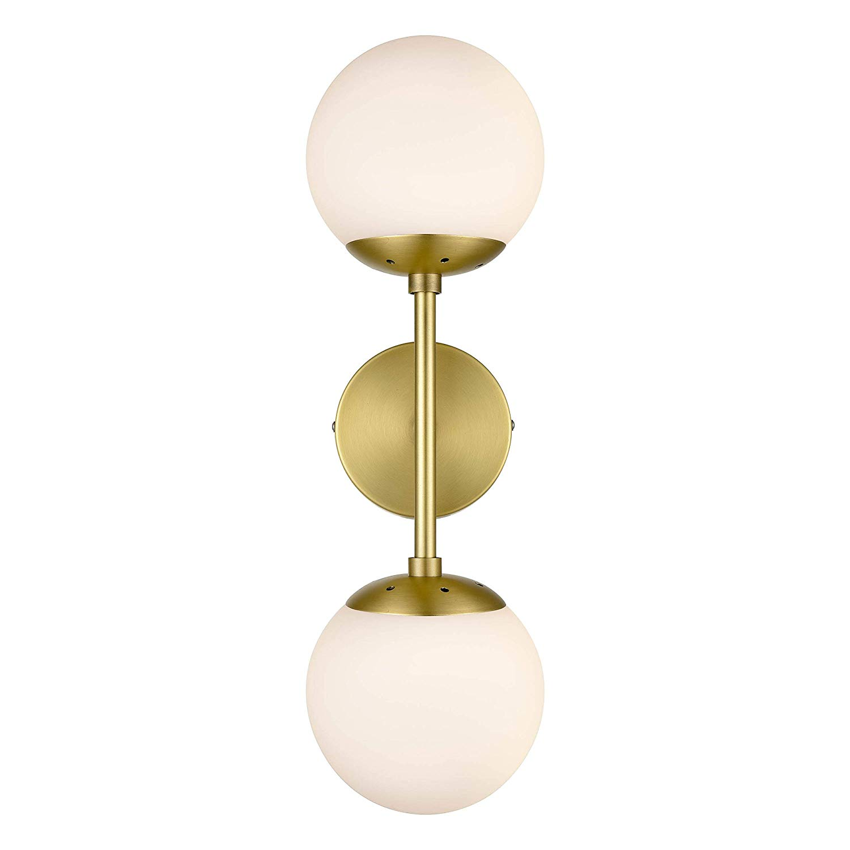 QLL - Light Society - Brass and White Glass Zeno 2 Light Sconce.jpg