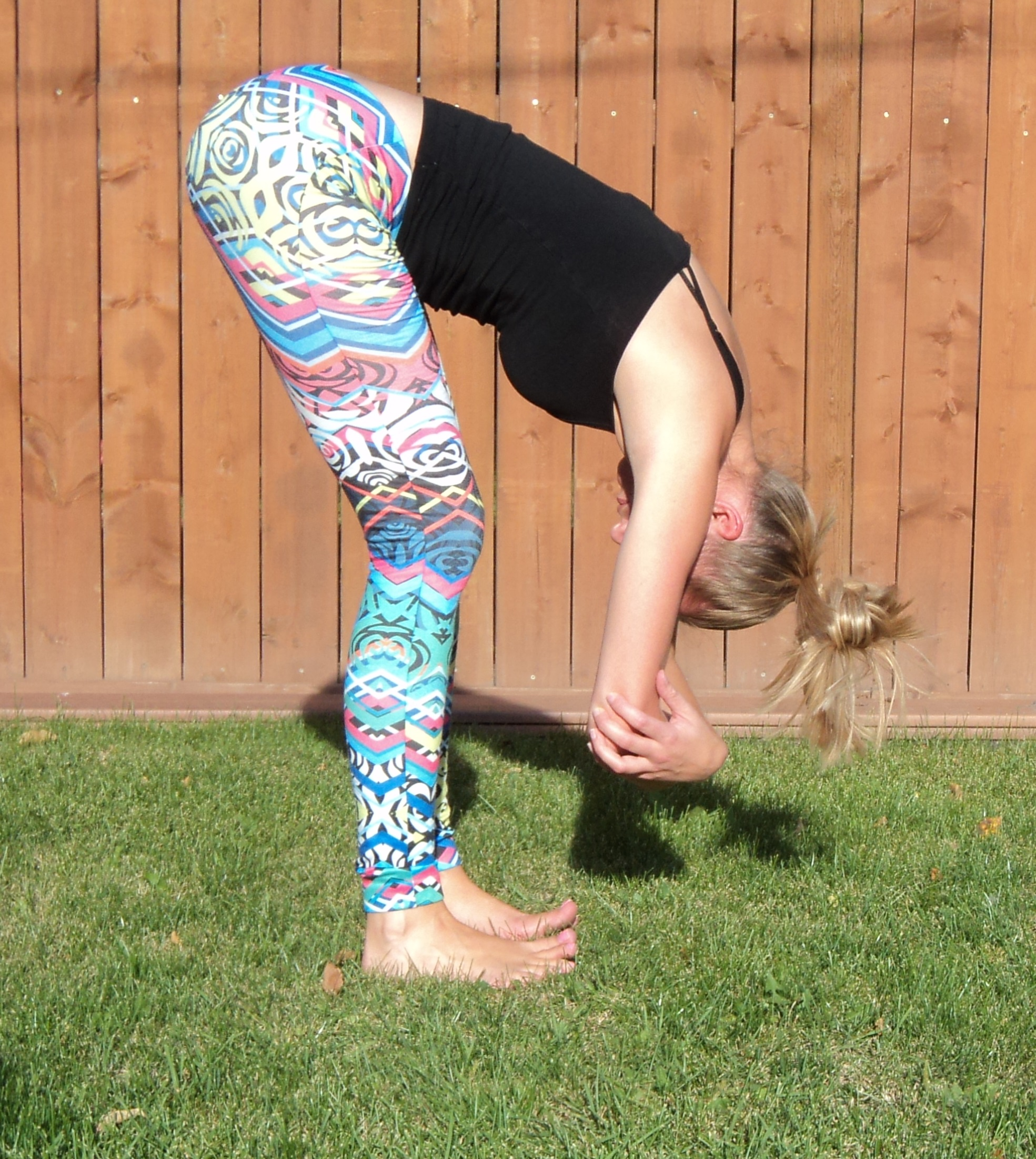 A passive forward fold is a nice release from this pose :)